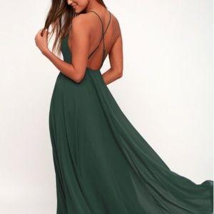 Green Boho/Formal Maxi Dress